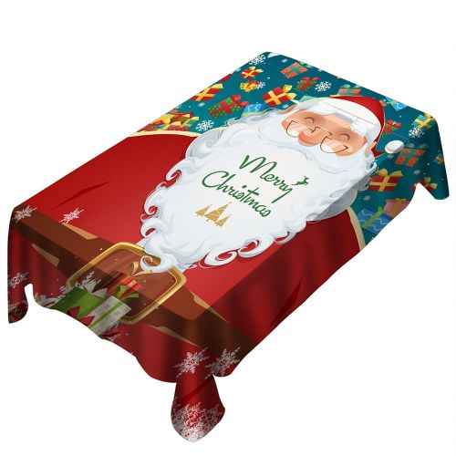 Christmas Tablecloth/Chair Cover Digital Printing Table Decoration Red