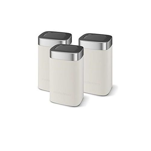 Morphy Richards Set Of 3 Storage Canisters & Bread Bin