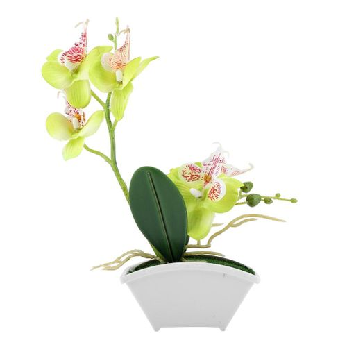 Artificial Flower Simulation Butterfly Orchid Decorative Plants Pot For Home Decor