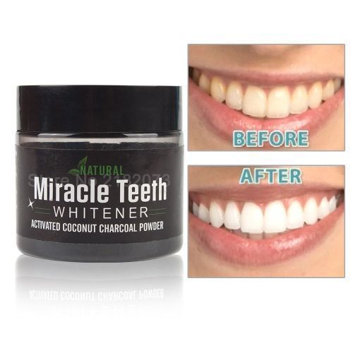 Activated Natural Teeth Whitening Coconut Charcoal Cleaner