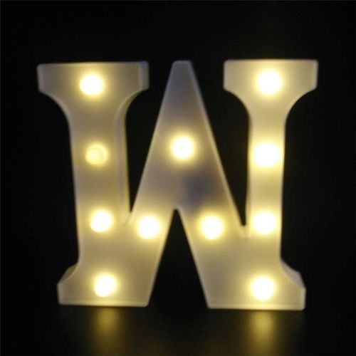 OR English Letter W Light For Various Parties Or Wedding Lig