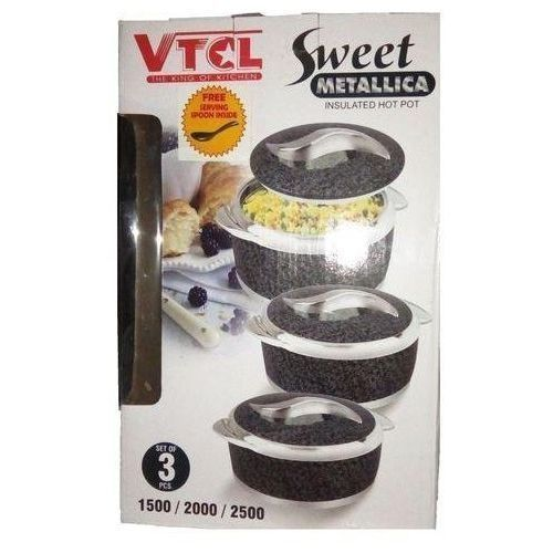 VTCL Insulated Hot Pot Casserole Set( Colour May Vary)