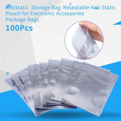 100Pcs/set 6x9cm Antistatic Resealable Ziplock Pouch Storage Bag For Electronic Accessories