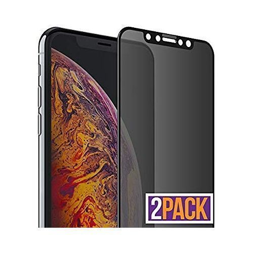 2Pcs Of IPhone XsMax Privacy Glass (x2) Screen Protector [Full Coverage]