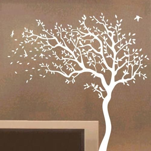Big Tree Nursery Wall Sticker Decal Art Home Bedroom Removable Mural Decor 2Mx2M#towards The Left