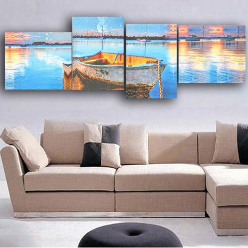 4 In 1 Colorful Modern Art Canvas Picture Print Home Wall Decor