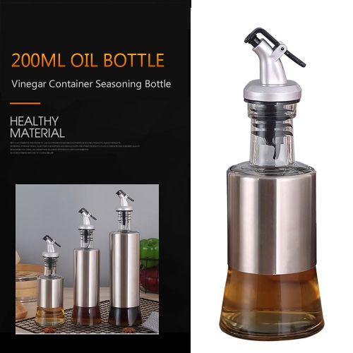 Oil Bottle Oil Dispenser Oil Glass 200ml Vinegar Container
