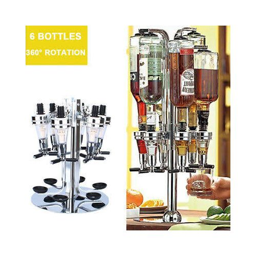 6 Bar Bottle Shot Rotating Dispenser Holder