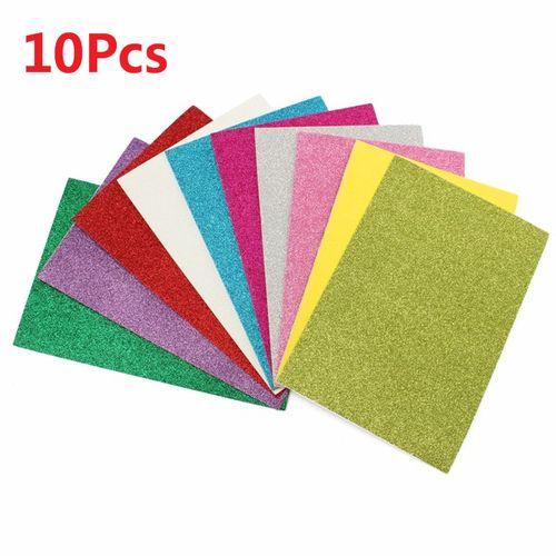 10*Adhesive Glitter Scrapbooking Paper Vinyl Sticker Art Sheets DIY Craft 8x12''