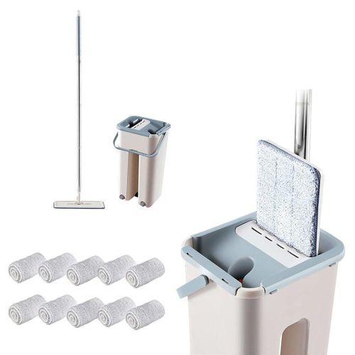 Microfiber Mop With Bucket, Clean Squeeze Handsfree Mop
