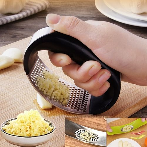 Multi-function Manual Stainless Steel Garlic Presses
