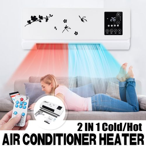 2000W Touch Wall Mounted Space Cooler Heater Air Conditioner Clothes Dryer Home