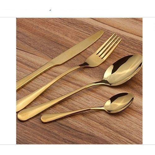 Gold Plated Cutlery - 24 Pieces