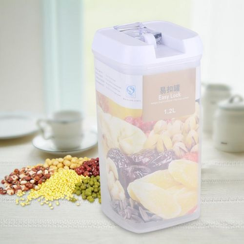 Sealed Food Storage Box Grain Nuts Cereal Transparent Container