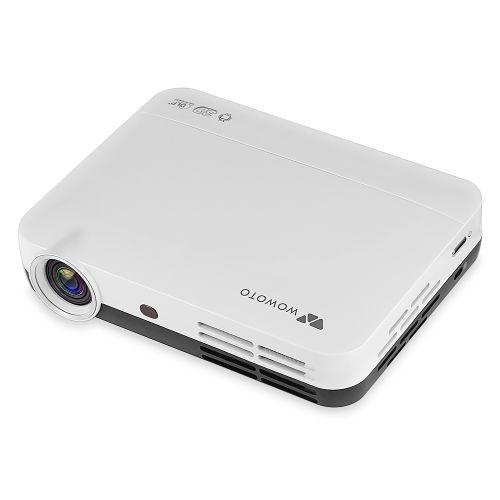 H8 Home Theater Video DLP Projector 1280 X 800 HD Support 3D 1080P Android System WiFi - White