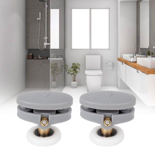 4PCS Durable Single Wheel Sliding Roller Track Door Bathroom Glass Door