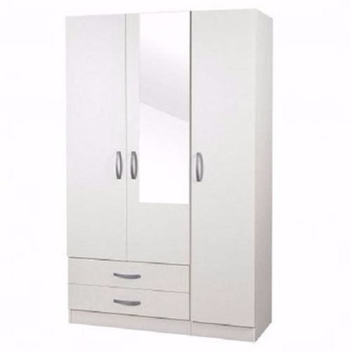 Voelkel Vox 3-Door And 2-Drawer Wardrobe - White (Delivery Within Lagos Only)