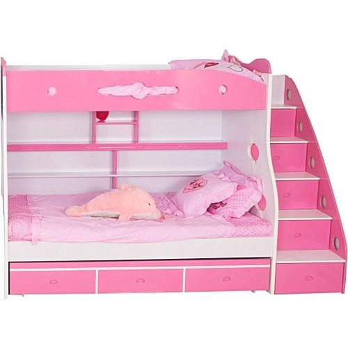 Children's Pink Bunk Bed Frame