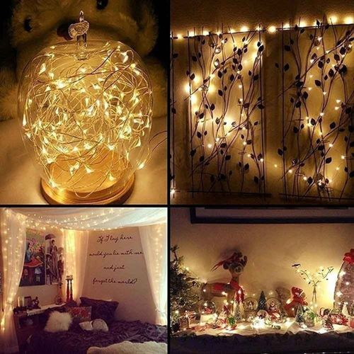 4M 40LED Battery Micro Rice Wire Copper Fairy String Lights Party Decor