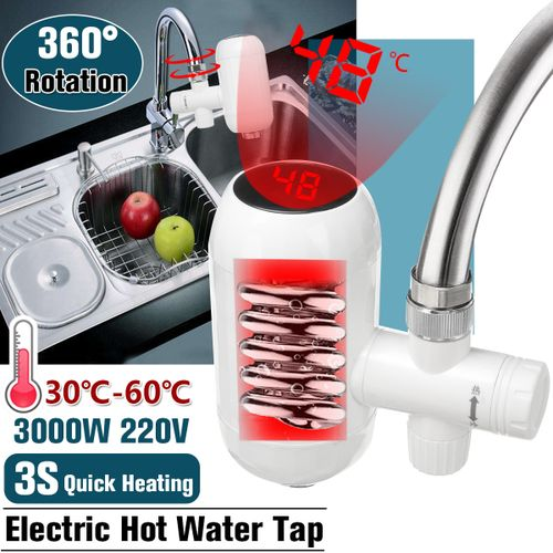 3000W Electric Faucet Tap Instant Hot Water Heater Kitchen