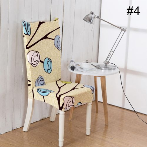 7 Colors Stretch Print Chair Cover Flower Printed One -piece Home Dining Table Seat