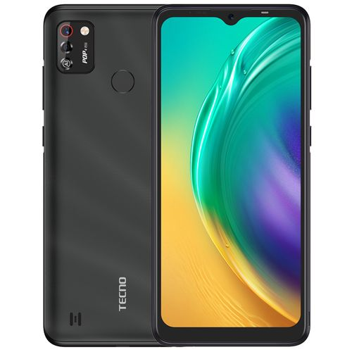"POP4 Pro (BC3) 6.52"" Screen, 16GB ROM + 1GB RAM, 5000mAh, 4G, Android 10, 8MP Dual Camera, Fingerprint+ Face ID - Black"