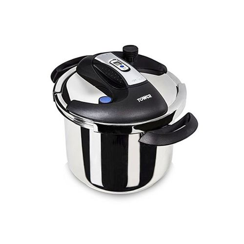 Pro One Touch Pressure Cooker, 6 Litre, Stainless Steel With Steamer