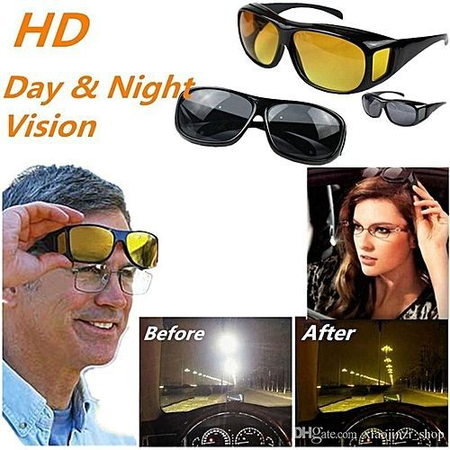 1 Pair Of HD Vision Anti Glare Night & Day View Driving Glasses