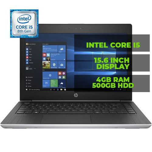 "ProBook 430 G5 (2SF29UT#ABA) Intel Core I5 8th Gen 8250U 4 GB Memory 500 GB HDD 13.3"" Windows 10 Pro 64-Bit (5 Units)"