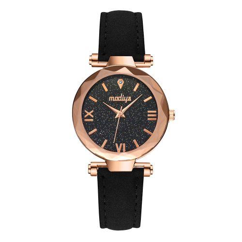 Ladies Elegant Quartz Wristwatch Grinded Belt