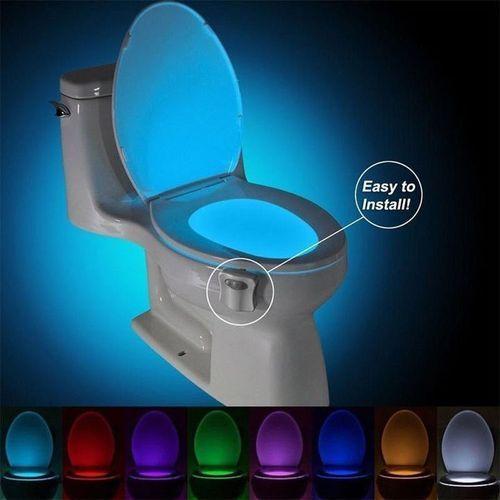 Smart PIR Motion Sensor Toilet Seat Night Light 8 Colors LED