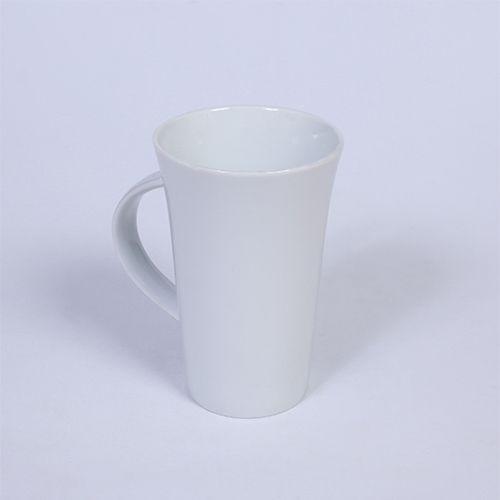 Plain White Fine Bone China Latte Mugs - 4pcs