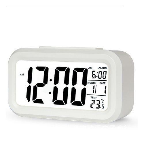 Mute Smart Light LCD Big Screen Digital Alarm Clock