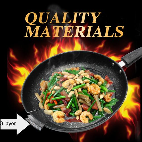 26 CM Medical(Maifan) Stone Frying Pan Non-stick Frying Pan Multi-purpose Pancake Steak Pan Fumes-free For Gas Induction Cooker