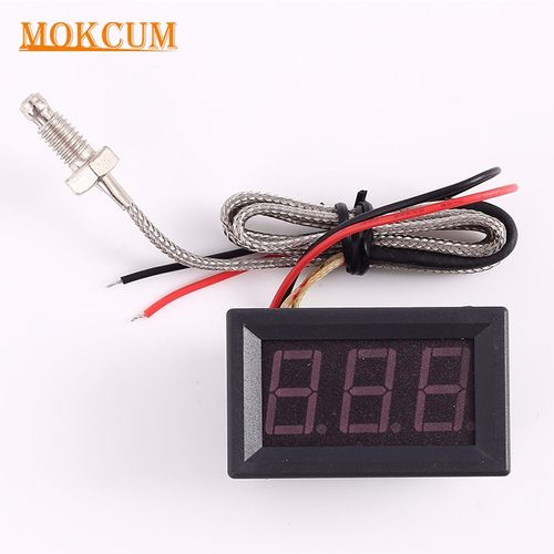 Thermometer K-type M6 Probe Thermocouple High Temperature Industrial Sensor Embedded Meter Tester Digital LED Display 15cm Cable