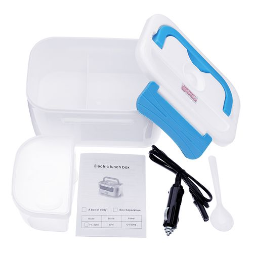 Mrosaa Portable Electric Heating Lunch Box Food-Grade Food Container Food Warmer For Kids Adults 4 Buckles Dinnerware Sets