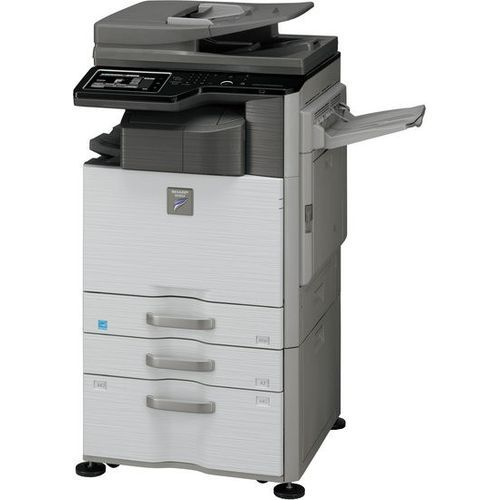 MX-M464N SHARP COPIER MACHINE WITH FINISHER AND STAND