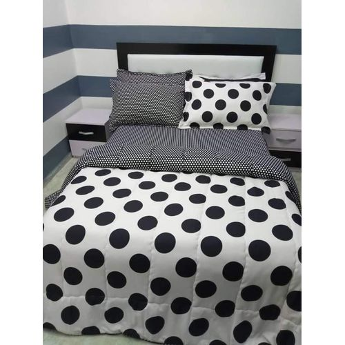 Dotted Bed-sheet With Pillow Cases
