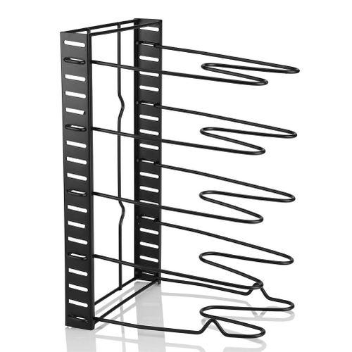 IKEA Multi Tiers Pot Frying Pan Lid Storage Rack Organizer Kitchen Cookware Stand Holder Pan Tree Cookware Organizer Pots & Pans Holder Rack