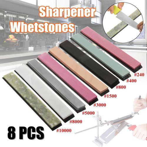 8Pcs Kitchen Sharpener Whetstones Polishing Grinding Tools 240-10000 Grit