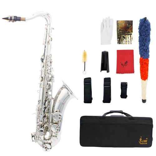 LADE Brass Bb Tenor Saxophone Sax Carved Pattern Pearl