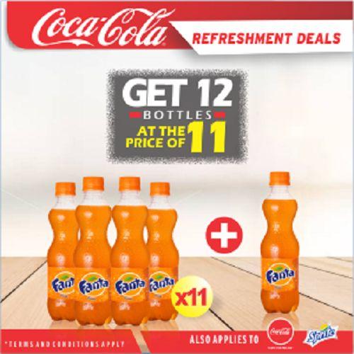 Coca Cola Refreshment Deal - Buy 11 Bottles Of Fanta Orange 35cl PET & Get 1 Bottle FREE!!!