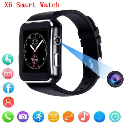 Bluetooth Camera Touch Curve Screen Smart Watch Phone For IOS & Android (Upgraded)