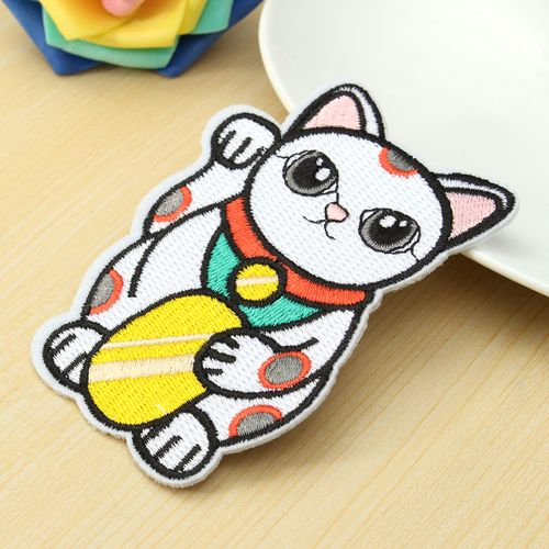 Lucky Cat Badge Cute Patch For Fabric Apparel DIY Decor