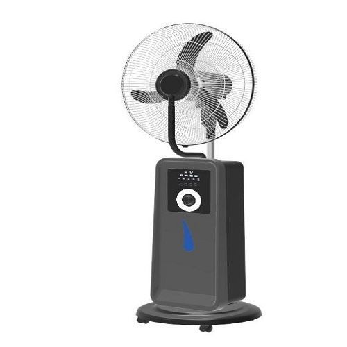 "18"" REACHARGEABLE MIST FAN WITH USB+SOLAR PORTS"