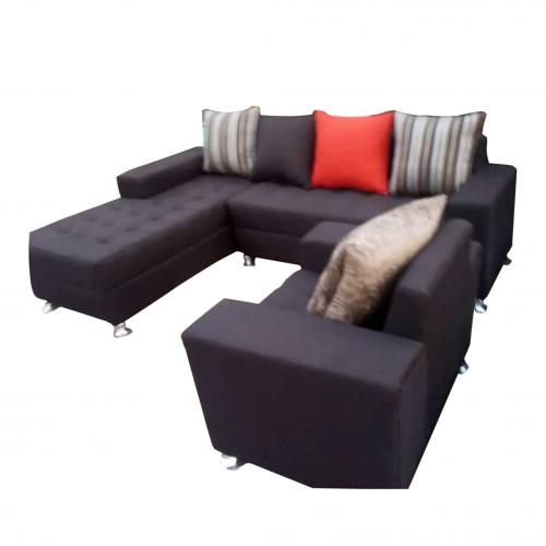 Three Pieces Leather Corner Sofa Chair (7 Seaters )