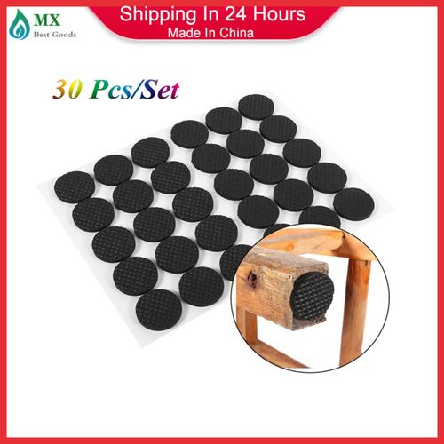 ​30Pcs Black Non-slip Self Adhesive Floor Protectors Furniture Sofa Table Chair Rubber Feet Pad