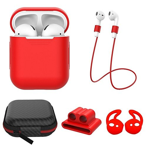 Stylish 5PCS Silicone Shockproof Protective Cover Earpods Wi