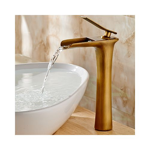 Basin Faucets Modern White Bathroom Faucet Waterfall Faucets Single Hole Cold And Hot Water Tap Basin Faucet Mixer Taps