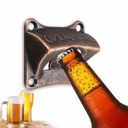 Bronze Rustic Collectable Wall Mounted Beer Bottle Opener Bar Club Soda Open